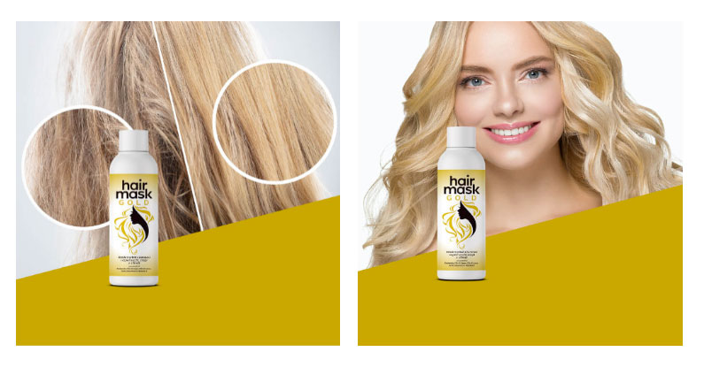 hair mask gold per capelli