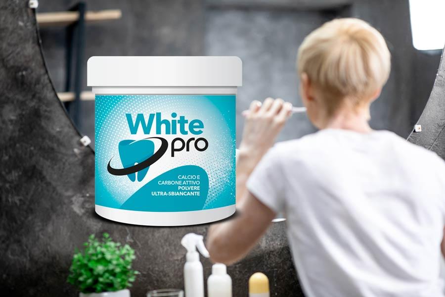 white pro sbianca denti